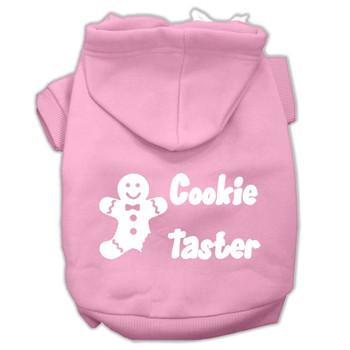Cookie Taster Screen Print Pet Hoodies - Light Pink
