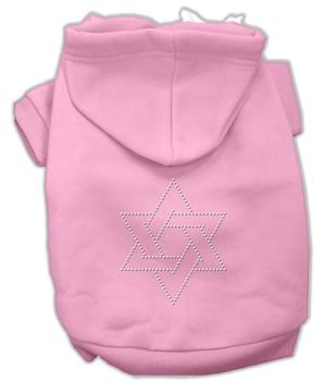 Star Of David Hoodies Pink