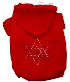 Star Of David Hoodies Red