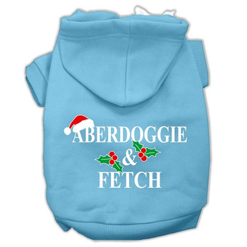 Aberdoggie Christmas Screen Print Pet Hoodies - Baby Blue