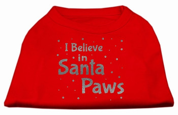Screenprint Santa Paws Pet Shirt - Red