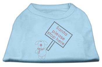 Santa Stop Here Shirts - Baby Blue