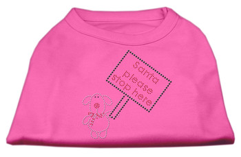 Santa Stop Here Shirts - Bright Pink