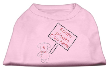 Santa Stop Here Shirts - Light Pink