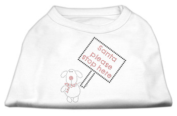 Santa Stop Here Shirts - White