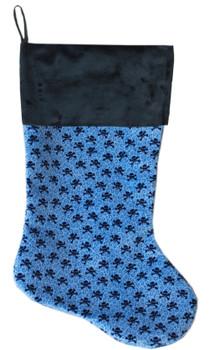 Baby Blue Skulls Christmas Stocking