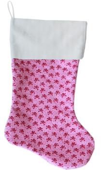 Light Pink Skulls Christmas Stocking