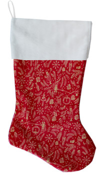 Red Holiday Whimsy Christmas Stocking