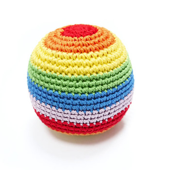 Rainbow Ball PAWer Squeaker Dog Toy