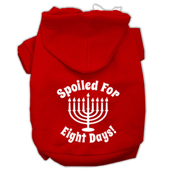 Spoiled for 8 Days Screen Print Pet Hoodies - Red
