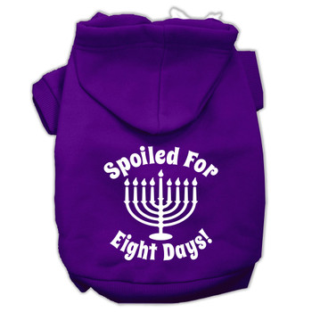 Spoiled for 8 Days Screen Print Pet Hoodies - Purple