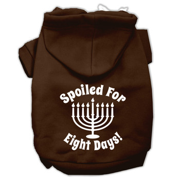 Spoiled for 8 Days Screen Print Pet Hoodies - Brown