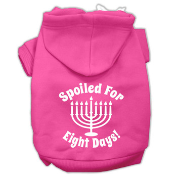 Spoiled for 8 Days Screen Print Pet Hoodies - Bright Pink