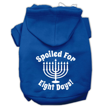 Spoiled for 8 Days Screen Print Pet Hoodies - Blue