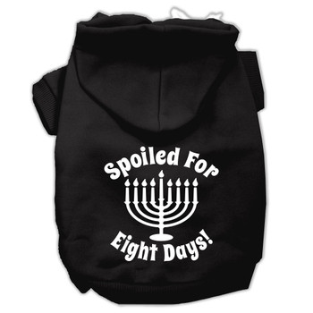 Spoiled for 8 Days Screen Print Pet Hoodies - Black