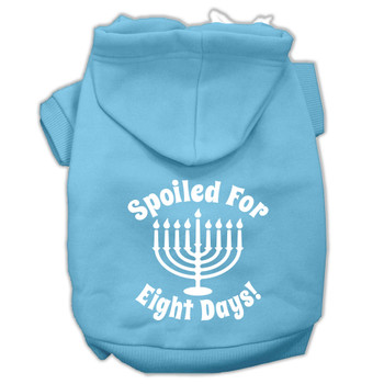 Spoiled for 8 Days Screen Print Pet Hoodies - Baby Blue