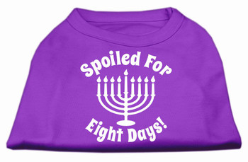 Spoiled for 8 Days Screen Print Shirt - Purple