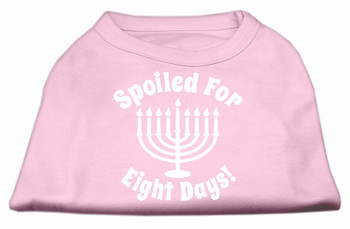 Spoiled for 8 Days Screen Print Shirt - Light Pink