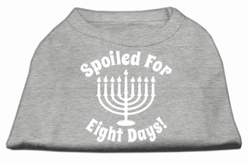 Spoiled for 8 Days Screen Print Shirt - Grey