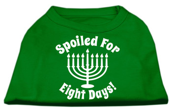 Spoiled for 8 Days Screen Print Shirt - Emerald Green