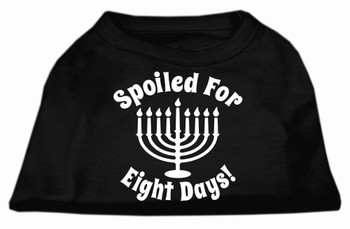 Spoiled for 8 Days Screen Print Shirt - Black