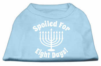 Spoiled for 8 Days Screen Print Shirt - Baby Blue