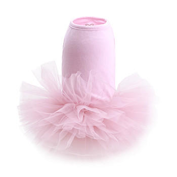 Puppy Angel Tutu Dog Dress - Pink-1