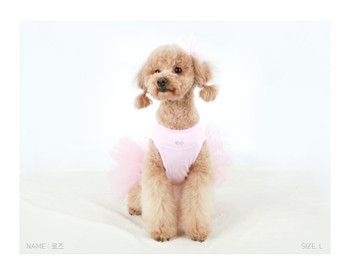 Puppy Angel Tutu Dog Dress - Pink-1