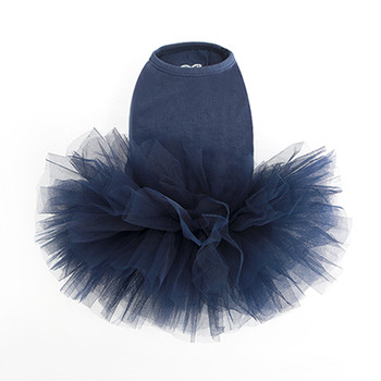 Puppy Angel Tutu Dog Dress - Navy Blue
