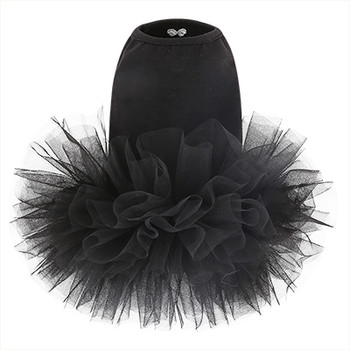 Puppy Angel Tutu Dog Dress - Black