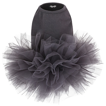 Puppy Angel Tutu Dog Dress - Dark Gray
