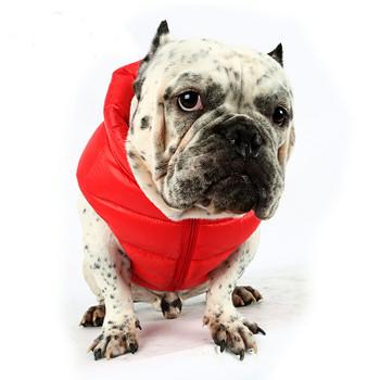 Puppy Angel Love Down Vest For Bulldog - Red