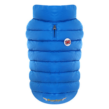 Puppy Angel Love Down Vest For Bulldog - Blue