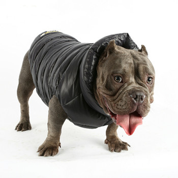 Puppy Angel Love Down Vest For Bulldog - Black