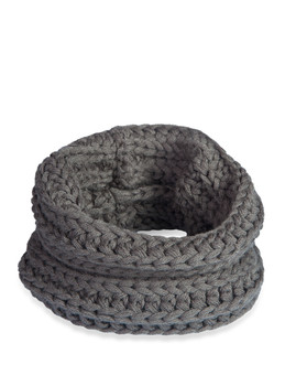 Infinity Dog Scarf - Charcoal