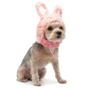 Pink Bunny Pet Dog Hat
