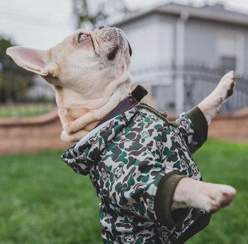 Hype Green Camo Pet Dog Hoodie