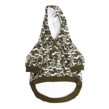 Hype Green Camo Pet Dog Hoodie