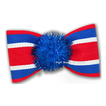 Uncle Sam Dog Bow Barrette -Larger Dogs
