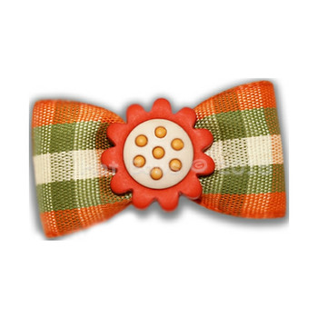 Dog Bow Barrette- Painted Acorn - Sienna