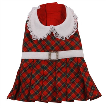 Savannah Red Plaid Dog Dress