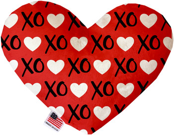 Red Xoxo Heart Dog Toy, 2 Sizes
