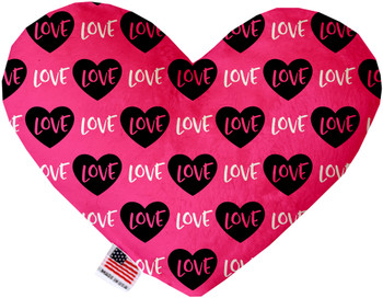 Pink Love Heart Dog Toy, 2 Sizes
