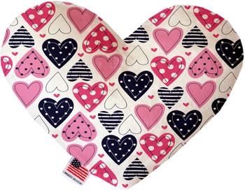 Mixed Hearts Heart Dog Toy, 2 Sizes