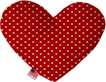 Red Stars Heart Dog Toy, 2 Sizes