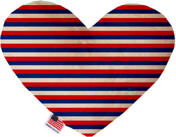 Patriotic Stripes Heart Dog Toy, 2 Sizes