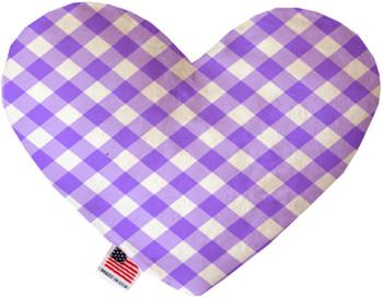 Purple Plaid Heart Dog Toy, 2 Sizes