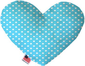Aqua Polka Dots Heart Dog Toy, 2 Sizes