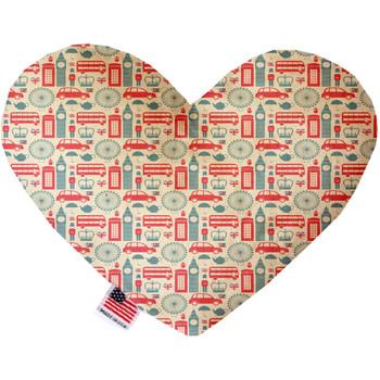 London Love Heart Dog Toy, 2 Sizes