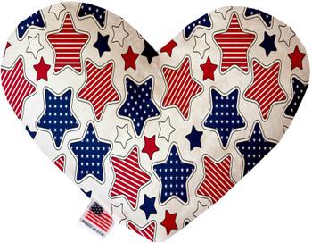 Patriotic Stars Heart Dog Toy, 2 Sizes